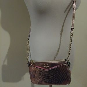 Victoria's Secret Crossbody Metallic Pink Purse